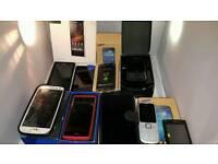 Samsung .sony nokia mega6.blacburry lot