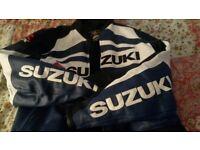 Suzuki 3XL Leather Bike Jacket with armour
