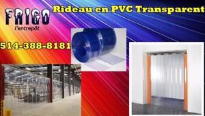 RIDEAU PVC POUR VOTRE CHAMBRE FROIDE OU CONGÉLATEUR