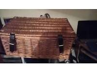 Small picnic hamper basket