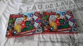 2 avengers face paint sets