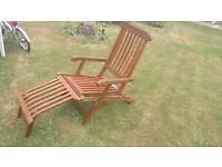 Hardwood steamer chair garden furniture