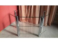 Glass and chrome TV stand immaculate as new £20 collect lyme regis (television)