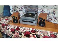 SONY Stereo Turntable setup