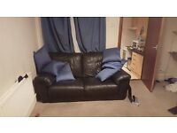 CYBER WEEK SALE - £30 Black Leather Sofa!