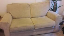 Cream 2 seater sofa for sale - Free