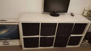 Used white ikea expedit with black fabric box inserts Mosman Mosman Area Preview