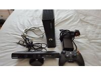 Box 360 plus Kinect plus wireless controller and all cables inc HDMI.