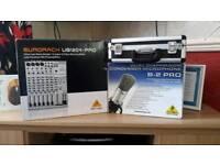 6 channel pro dj mixer and studio pro condenser mic