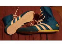 Boxing Boots - Adidas Hog II - UK 11 blue/yellow
