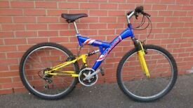 Salcano Nova mountain bike mtb full suspension fully serviced