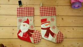 Pair of Christmas stockings