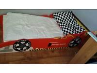 Toddlers racing car bed