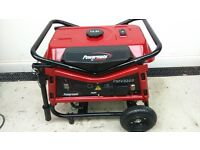 portable petrol generator very good little used condition see photos 7.5 hour run time on full tank