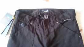 Route one Black motorbike jeans
