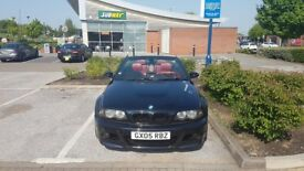 BMW M3 E46 SMG 2005 CONVERTIBLE CARBON BLACK RED LEATHERS FSH HPI CLEAR NEW SMG PUMP LOW MILES P/X