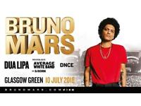 BRUNO MARS GOLDEN CIRCLE X 2 TICKETS GLASGOW GREEN - 10TH JULY RRP £85 + £8 BOOKING FEE EACH