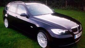 "BMW 318D SE TOURING - Black leather, bluetooth, 17"" alloys, not 320d"
