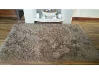 Gold shaggy rug