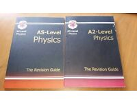 CGP AS/A2 Level Chemistry and Physics revision guides. Letts A2 Maths revision. Good condition.