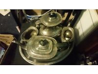 E.p.n.s electric plated nickel silver set