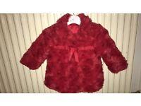 Red baby girl winter coat