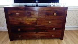 Sideboard chest of drawers from next walnut and mango