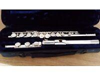 Silver Flute - Trevor James with original Case - Works fine