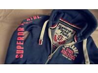Superdry track and field zip hoodie