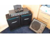 Peavey speakers and A K G d3900 mic and P A system
