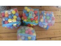 Four bags of ball pool balls