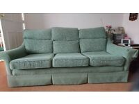 Green 3 piece suite, 3 seater sofa and 2 armchairs G-plan