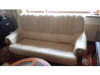 Free Leather sofa and chair must be collected