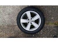 "VW GOLF MK7 16"" DOVER ALLOY WHEEL & GOODYEAR TYRE 5G0601025BN"