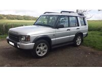 Land Rover Discovery 2. TD5, 7 seater. Registered 15th December 2003.