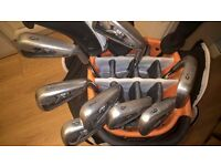 callaway irons, wedges with utility and cart bag