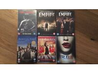 DVD boxsets (Downtown, Boardwalk Empire, True Blood, Desperate Housewives)