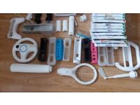 Nintendo Wii with 18 games and loads of accessories