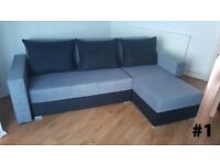 Corner sofa bed - very good quality // MASSIVE SALE - 4 colours // free delivery