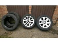 Spare/Drift Wheels with extra tyres for bmw e46/e36 Size205/55/16 Good condition
