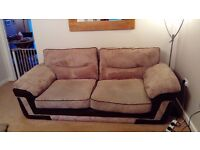 Three Seater and Two Seater Matching Fabric Sofas • 3 years old • Smoke-Free house• £200