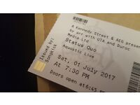 Status quo tickets royal albert hall london. X2 ticlets £70 for the pair quick sale