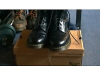 MENS NEW DOC MARTIN BOOTS SIZE 15 £30 OR SWAP FOR CAST IRON DUMBELL SET