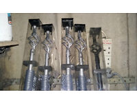 Brand New decorative metal curtain poles, 2 silver and 1 black (1.8-3.2 mtrs)