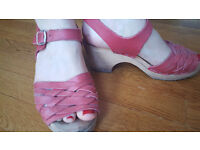 Red clog sandals size 7, Lotta from Stockholm Torpatoffeln