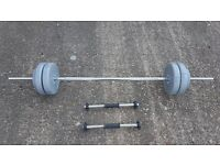Weightlifting bar and dumb bells - can deliver local