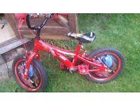 Disney car macquuen bike 16inch was £110