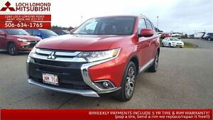 2016 Mitsubishi Outlander W/ 4WD, LEATHER, SUN ROOF and only $23