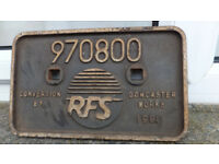 Radio Frequency Systems (RFS) conversion railway plate sign heavy