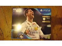 Playstation 4 500GB, with FIFA 18 - Unopened